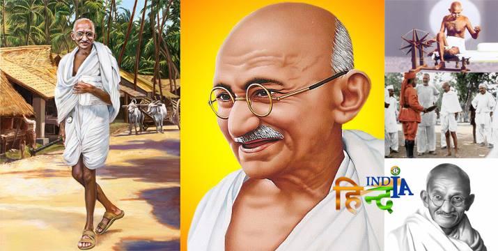 महात्मा गांधी का जीवन परिचय निबंध  essay on mahatma gandhi in hindi महात्मा गांधी पर निबंध hindi essay mahatma gandhi महात्मा गांधी का जीवन